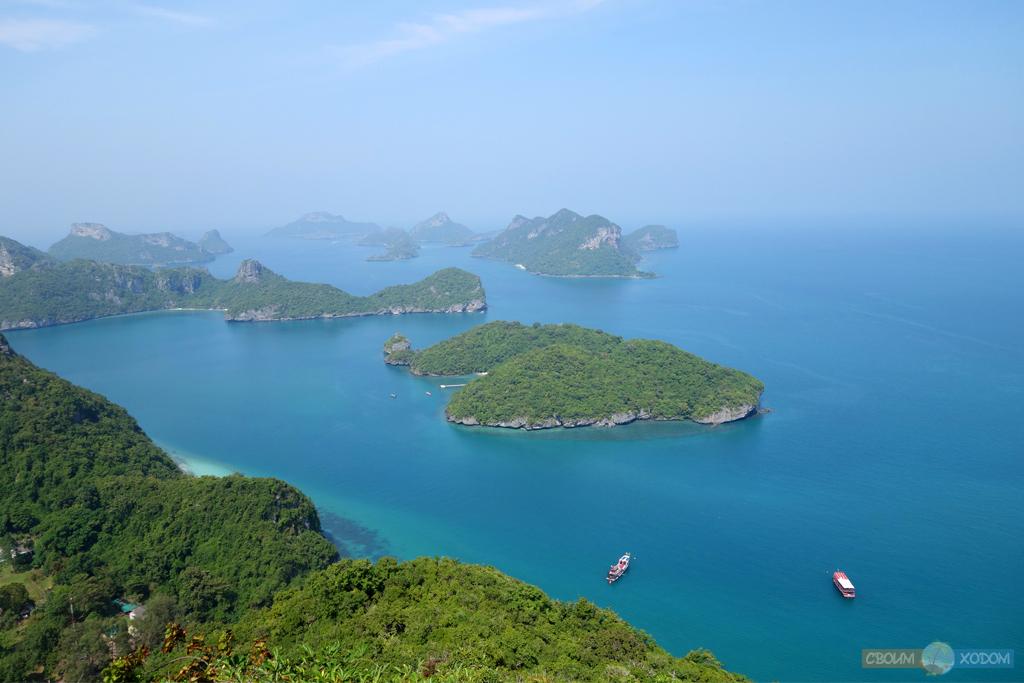 Национальный Морской Парк Ангтхонг | Mu Ko Ang Thong National Park | Вид с воздуха