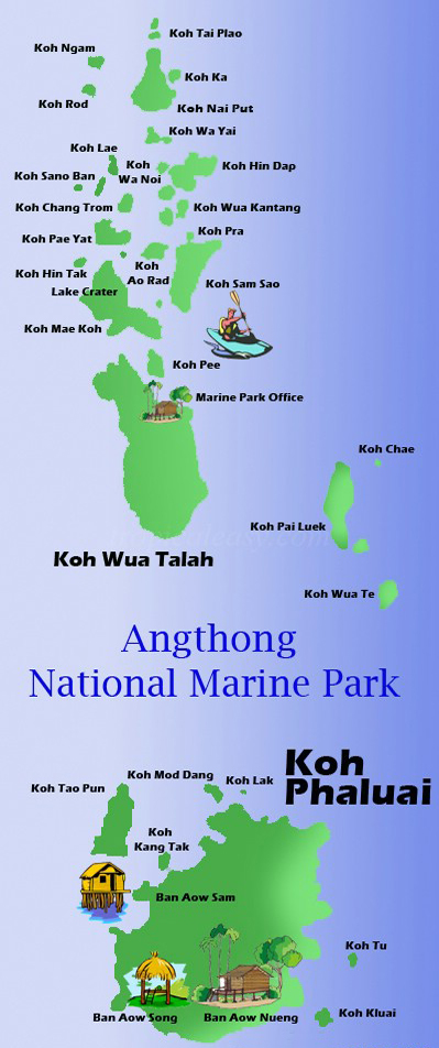 Национальный Морской Парк Ангтхонг | Mu Ko Ang Thong National Park | Острова