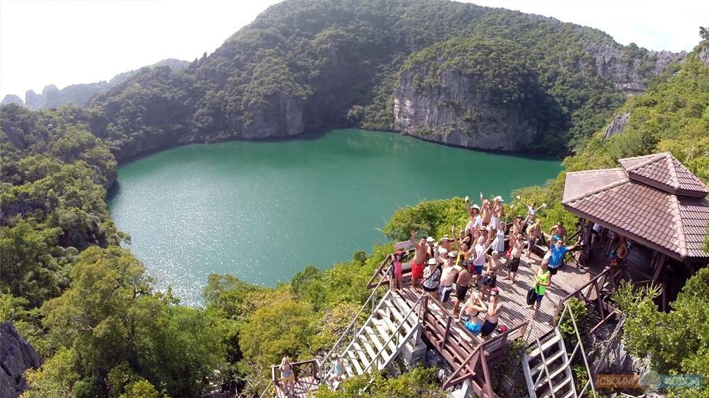 Национальный Морской Парк Ангтхонг | Mu Ko Ang Thong National Park | Смотровая площадка | Вид с высоты