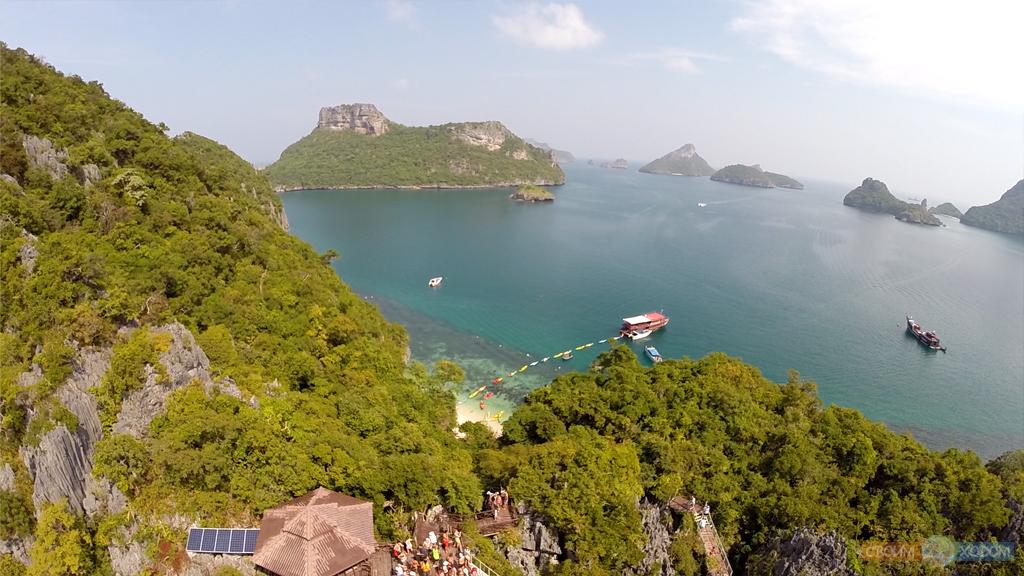 Национальный Морской Парк Ангтхонг | Mu Ko Ang Thong National Park | Вид сверху на пляж