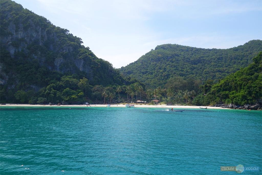 Национальный Морской Парк Ангтхонг | Mu Ko Ang Thong National Park | Вид с моря на остров Вуа Талап