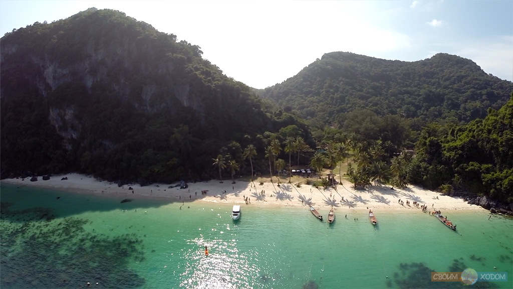 Национальный Морской Парк Ангтхонг | Mu Ko Ang Thong National Park | Вид с воздуха на остров Вуа Талап