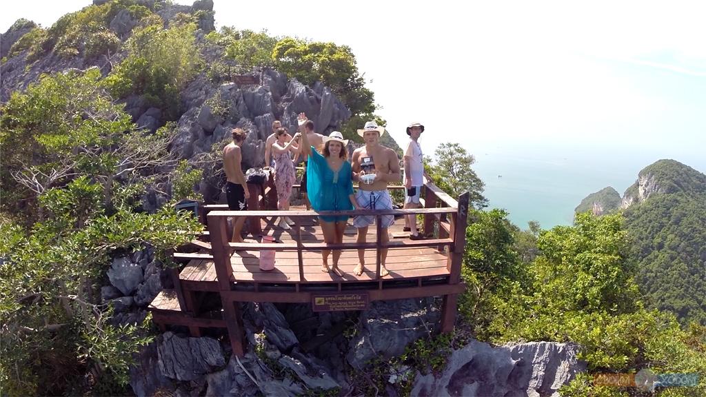 Национальный Морской Парк Ангтхонг | Mu Ko Ang Thong National Park | Остров Вуа Талап | Вид с на смотровую площадку со стороны моря